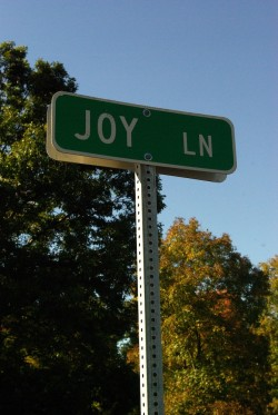 Turning down Joy Lane