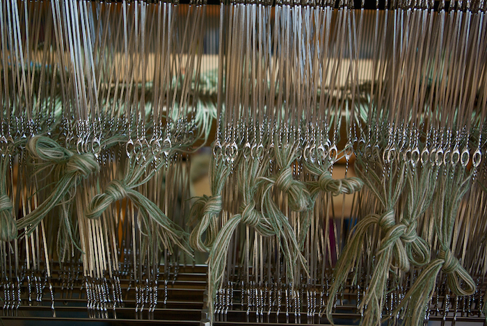 threading heddles for the Lakeside napkins