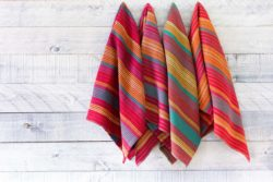 Zinnia patch kitchen towels