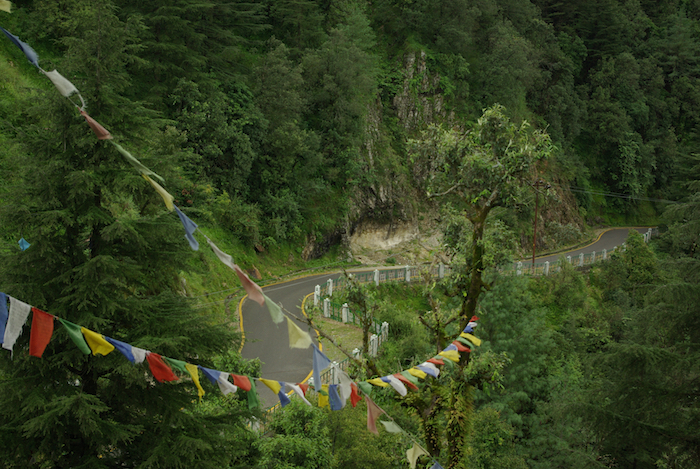 Tibetan prayer flags on Flag Hill