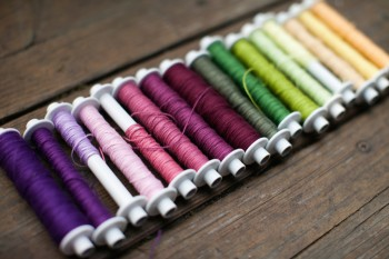 row of bobbins