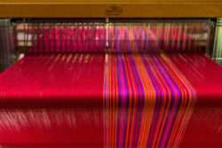 warp for rhododendron bouquet towels