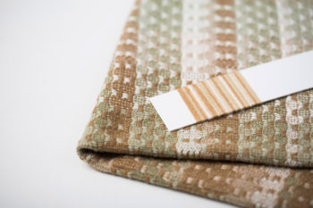 sample for towels woven with sustainably-grown cotton