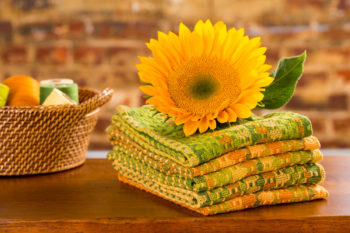 sunflower-inspired kitchen towels